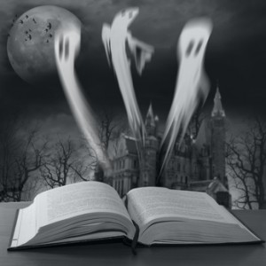 book with Halloween stories