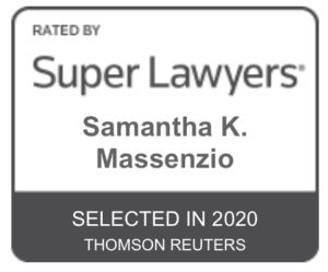 Samantha Massenzio Super Lawyers 2020